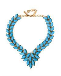 Oscar de la Renta - Blue Navette Cabochon Necklace - Lyst