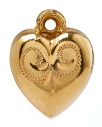 Annina Vogel - Metallic Gold Little Puff Heart Charm - Lyst