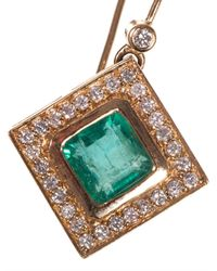 Jade Jagger - Green Diamond, Emerald & Yellow-Gold Earrings - Lyst