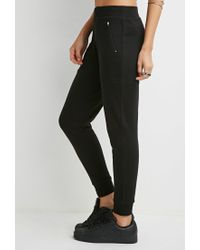 Forever 21 - Black Classic Zipped Joggers - Lyst