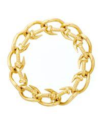 David Webb | Metallic 18k Polished Nail Link Bracelet | Lyst