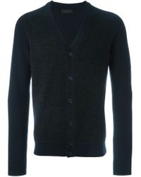 Z Zegna - Blue Panelled V-neck Cardigan for Men - Lyst