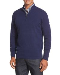 Peter Millar | Blue 'lora Festa' Quarter Zip Cashmere Pullover for Men | Lyst