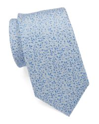 Vince Camuto | Blue Sofia Floral Slim Tie | Lyst