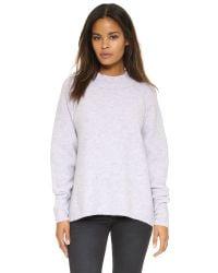 Free People | Purple Bubble Crew Sweater | Lyst