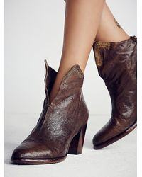 Free People | Brown Adagio Heeled Boot | Lyst
