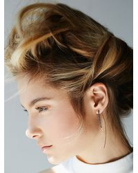 Free People - Metallic By Boe Womens Wrapped Hook Earring - Lyst