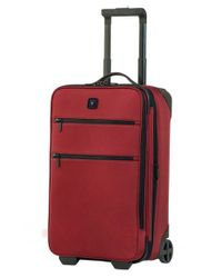 Victorinox - Red Victorinox Swiss Army 'lexicon 22' Wheeled Carry-on for Men - Lyst