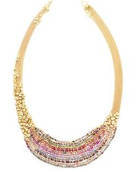 Natasha Collis - Metallic Hand-Melted 18Kt Yellow Gold Collar Necklace - Lyst