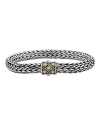John Hardy | Metallic Dot Gold & Silver Medium Oval Chain Bracelet With Jaisalmer Clasp | Lyst