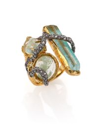 Alexis Bittar | Green Elements Moonlight Crystal Vine Three-Stone Ring | Lyst