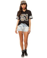 Crooks and Castles - Black The Indigo Camo Football Jersey - Lyst