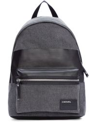 DIESEL - Gray Grey Denim Blockin Backpack for Men - Lyst