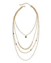 Panacea - Multicolor Multi-strand Beaded Necklace - Lyst