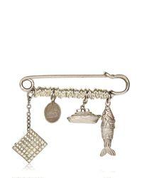 Maria Zureta | Metallic Dangling Pendant Fish Pin | Lyst