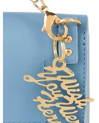 Sophie Hulme - Blue Nano Milner Envelope Leather Cross-Body Bag - Lyst