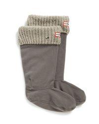 Hunter | Gray Tall Rib Knit Cuff Boot Socks | Lyst