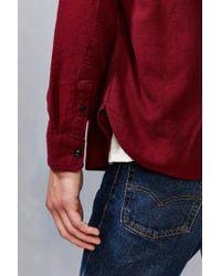 Stapleford - Purple Solid Dobby Flannel Button-down Workshirt for Men - Lyst