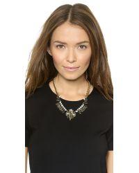 Rebecca Minkoff | Statement Necklace - Black Diamond Crystal | Lyst