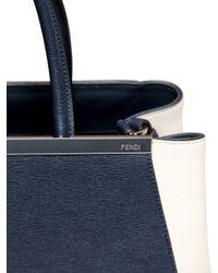Fendi - Blue Medium 2jours Color Blocked Leather Bag - Lyst