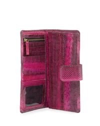 Beirn | Pink Watersnake Continental Wallet | Lyst