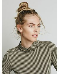 Free People | Brown We The Free Womens Cecilia Mock Neck Top | Lyst