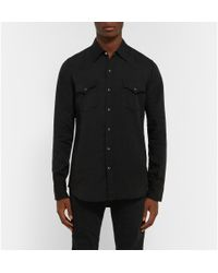 Saint Laurent - Black Twill Shirt for Men - Lyst