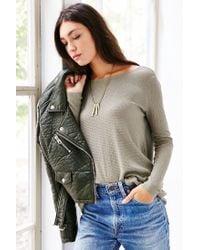 Kimchi Blue | Gray Surplice Back Pullover Sweater | Lyst