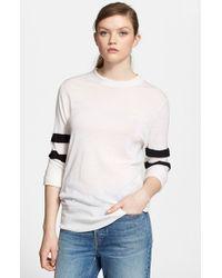 T By Alexander Wang - White Merino Wool Sweater - Lyst