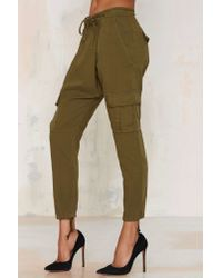Nasty Gal | Natural Rest Easy Cargo Pants | Lyst
