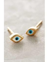 Anthropologie | Metallic Eyeing Earrings | Lyst