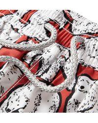 Vilebrequin - Red Okoa Long-Length Swim Shorts for Men - Lyst