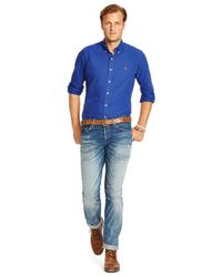 Polo Ralph Lauren | Blue Big And Tall Oxford Shirt for Men | Lyst