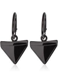 Dominic Jones | Black Rhodiumplated Alopias Hoop Earrings | Lyst