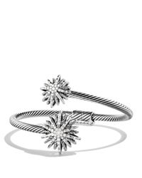 David Yurman | Metallic Starburst Open Bracelet With Diamonds | Lyst