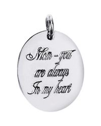 Aeravida | Metallic 'mom, You Are Always In My Heart' Sterling Silver Slide Pendant | Lyst