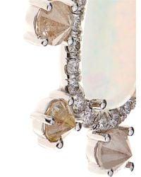 NSR Nina Runsdorf - Diamond, Opal & White-Gold Earrings - Lyst