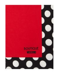 Boutique Moschino | Red Polka Dot Silk Square Scarf | Lyst