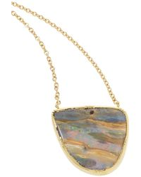 Brooke Gregson | Metallic Cancer 14-karat Gold Diamond Necklace | Lyst