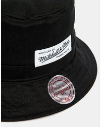 Mitchell & Ness - Black Label Logo Bucket Hat for Men - Lyst