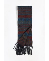 Urban Outfitters - Blue Geo Brushed Knit Scarf for Men - Lyst