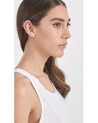 Wwake | Metallic Tri Opal Earrings | Lyst