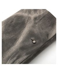Rick Owens | Gray Cyclops Distressed Leather Wallet Card Holder | Lyst