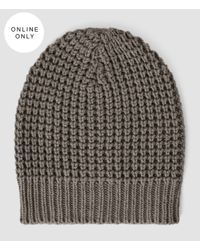 AllSaints | Gray Rok Beanie for Men | Lyst