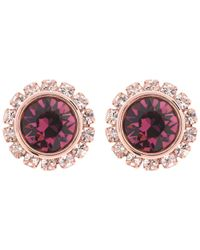 Ted Baker | Pink Sully Swarovski Crystal Stud Earrings | Lyst