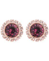 Ted Baker - Pink Sully Swarovski Crystal Stud Earrings - Lyst