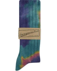 Anonymous Ism | Green Tie Dye Knitted Socks for Men | Lyst