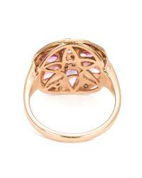Ileana Makri - Purple Sapphire And Diamond Flower Ring - Lyst