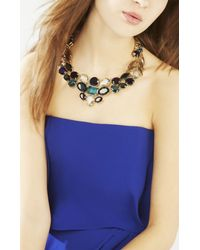BCBGMAXAZRIA - Blue Stone Statement Necklace - Lyst