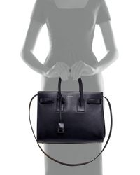 Saint Laurent | Blue Sac De Jour Small Carryall Bag Marine | Lyst